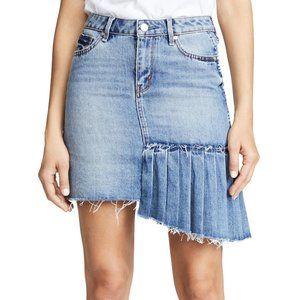 Habitual Corrinna Asymmetrical denim skirt